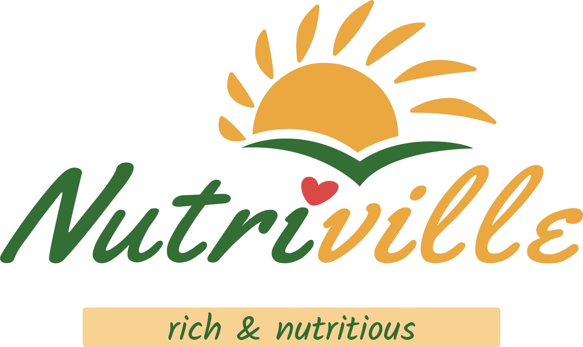 Nutriville logo with the slogan